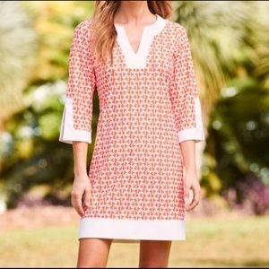 Jude Connally Holly Orange & White Tunic Dress